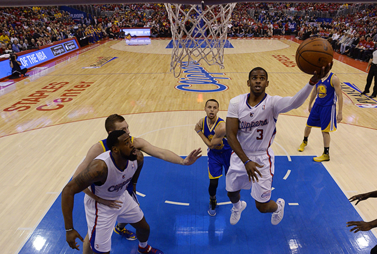 Chris Paul (3) finished Game 7 with 22 points and 14 assists, captaining the Clippers ship to a win.