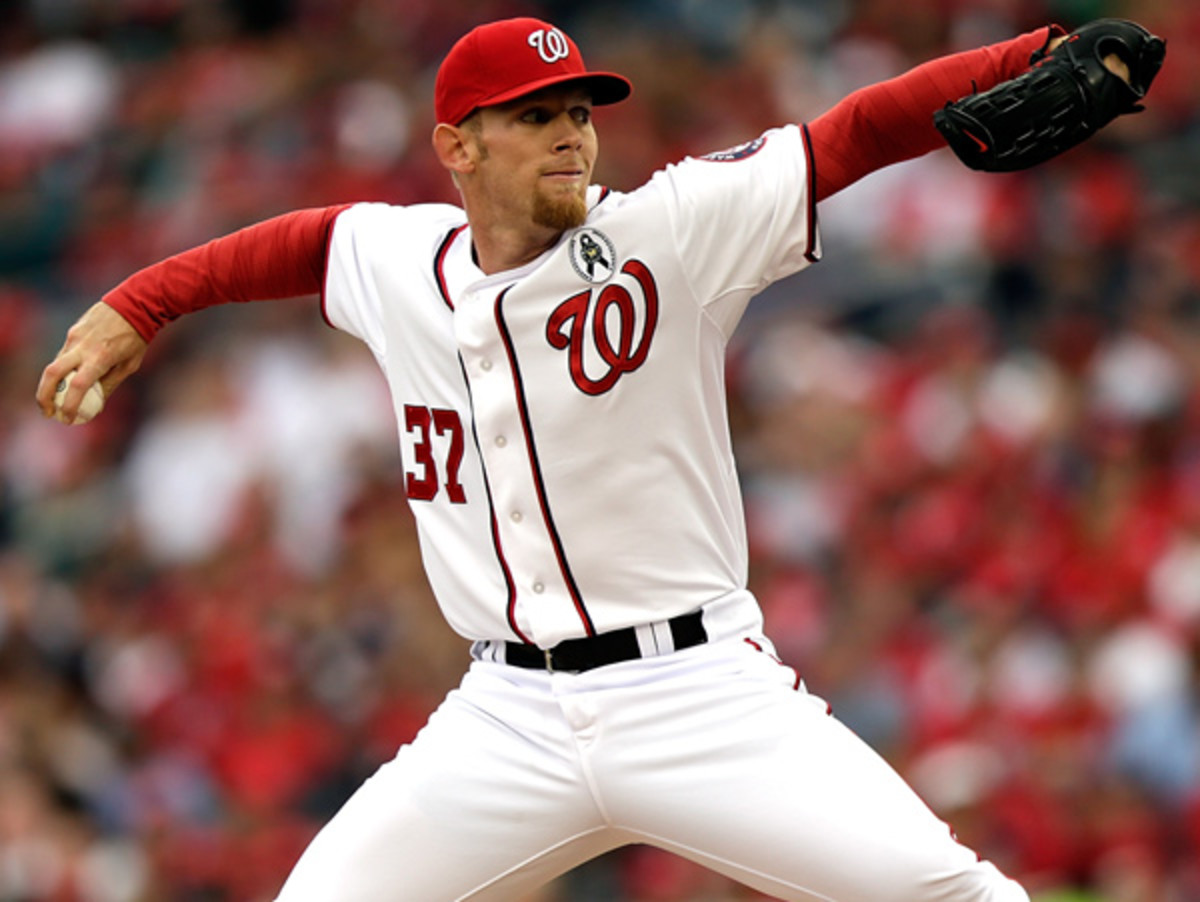 Stephen Strasburg will make his second career Opening Day start on Monday. (Win McNamee/Getty Images)