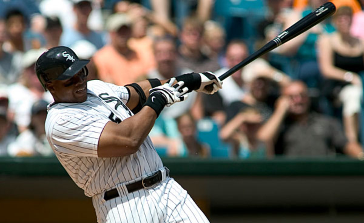 Frank Thomas hit 521 home runs and easily gained election to the Hall of Fame in his first year of eligibility. (Chuck Rydlewski/Icon SMI)