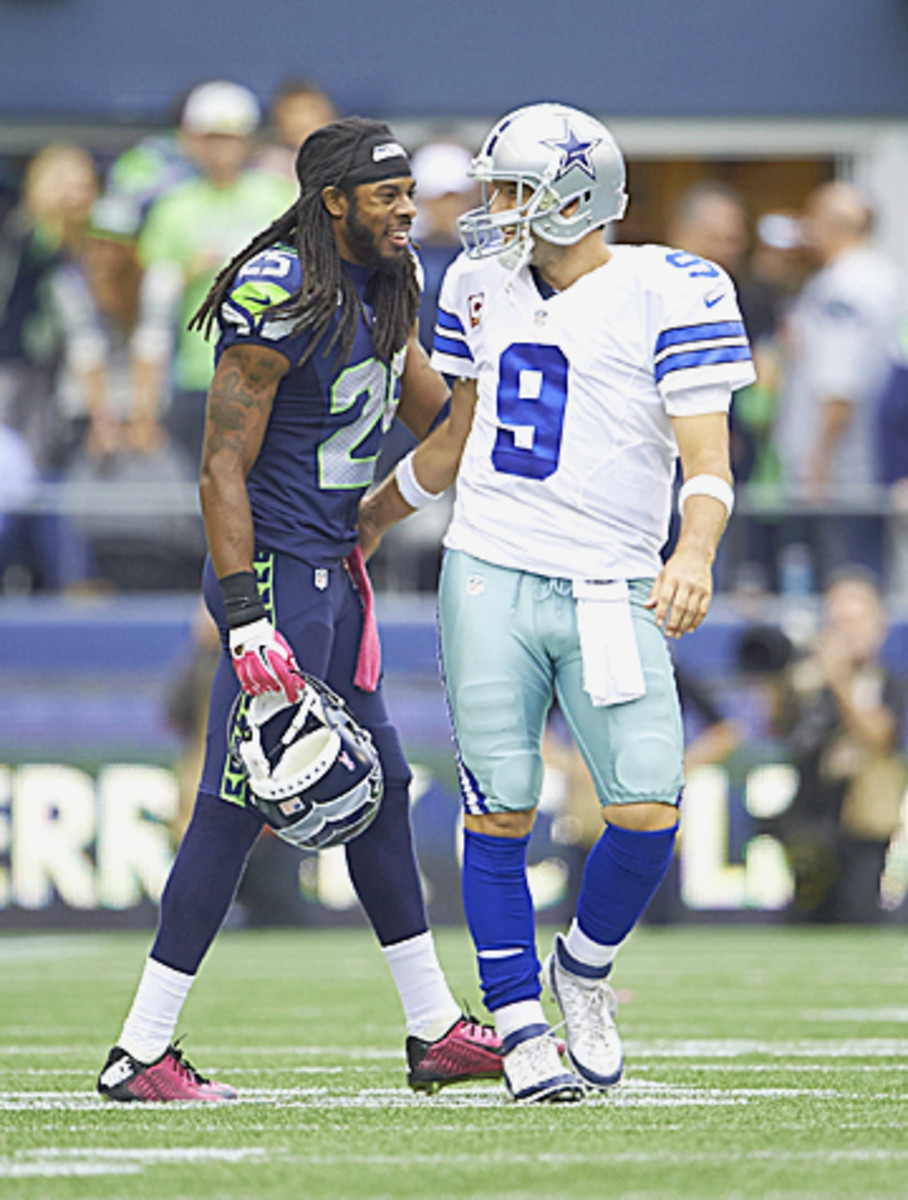 FOX's Week 6 telecast of Richard Sherman's Seahawks and Tony Romo's Cowboys drew 30 million viewers, the season's most-watched game so far. (Rod Mar/SI/The MMQB)