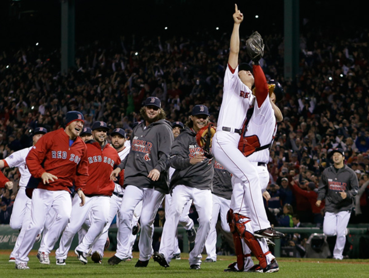The Red Sox bested all comers last season to capture their third World Series since 2004. (Matt Slocum/AP)
