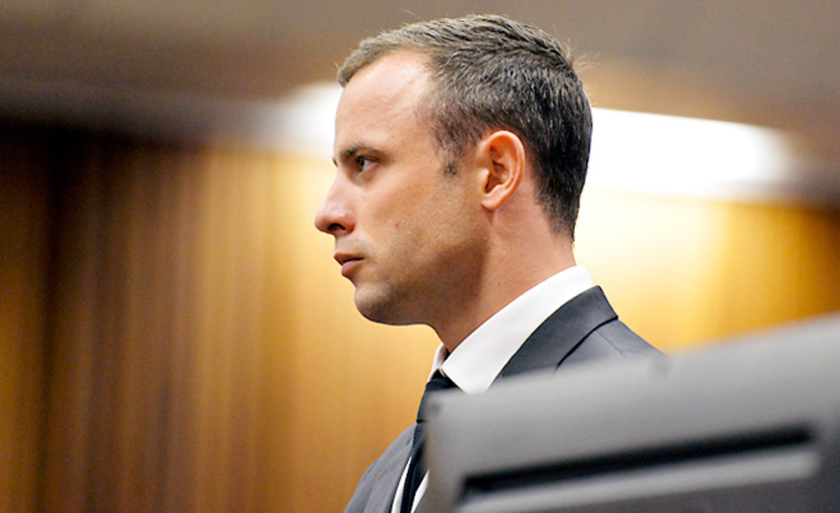 Oscar Pistorius pleaded not guilty Monday to the murder of his girlfriend Reeva Steenkamp last year.