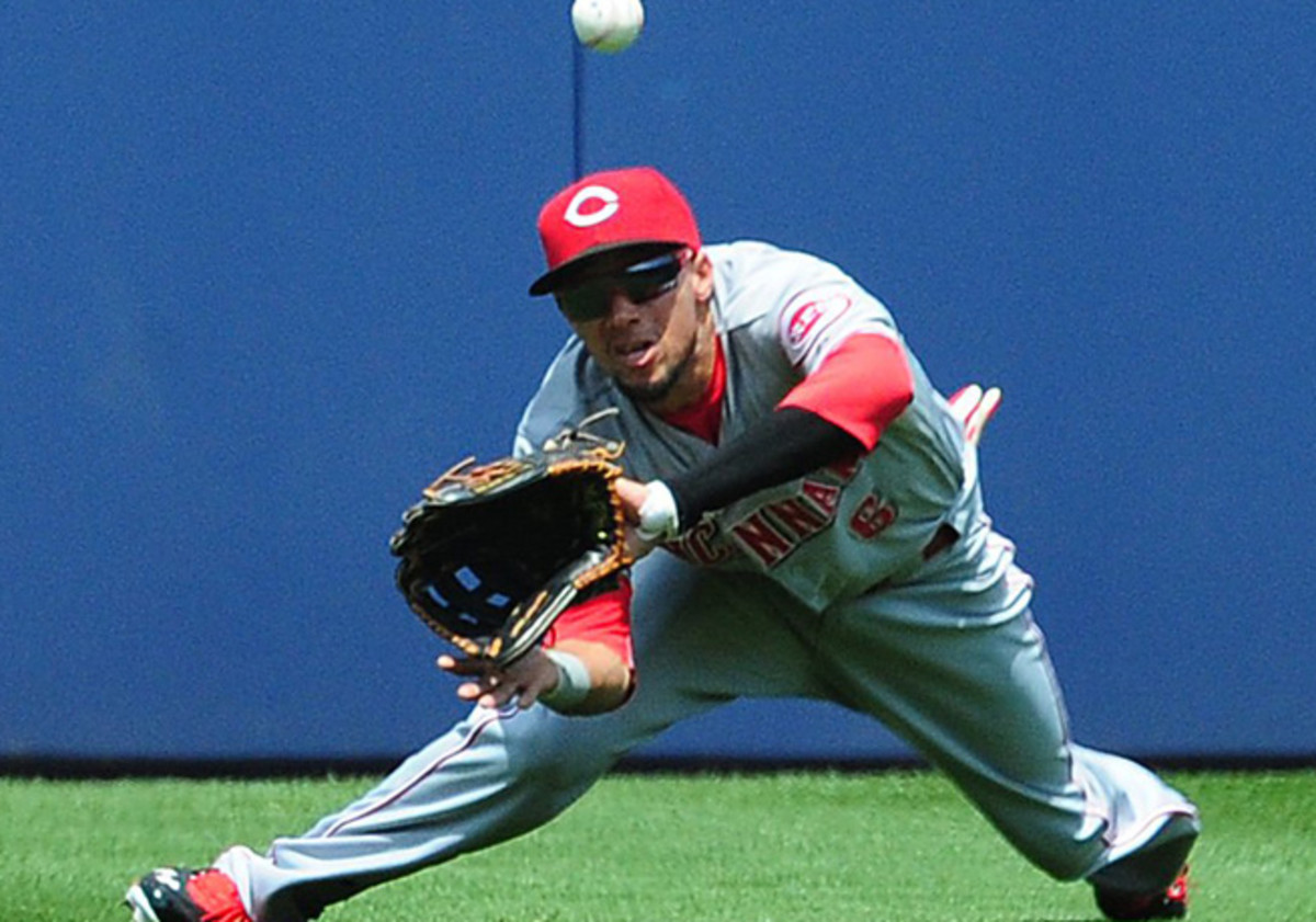 Billy Hamilton's defense in centerfield has made him of the National League's top rookies so far.