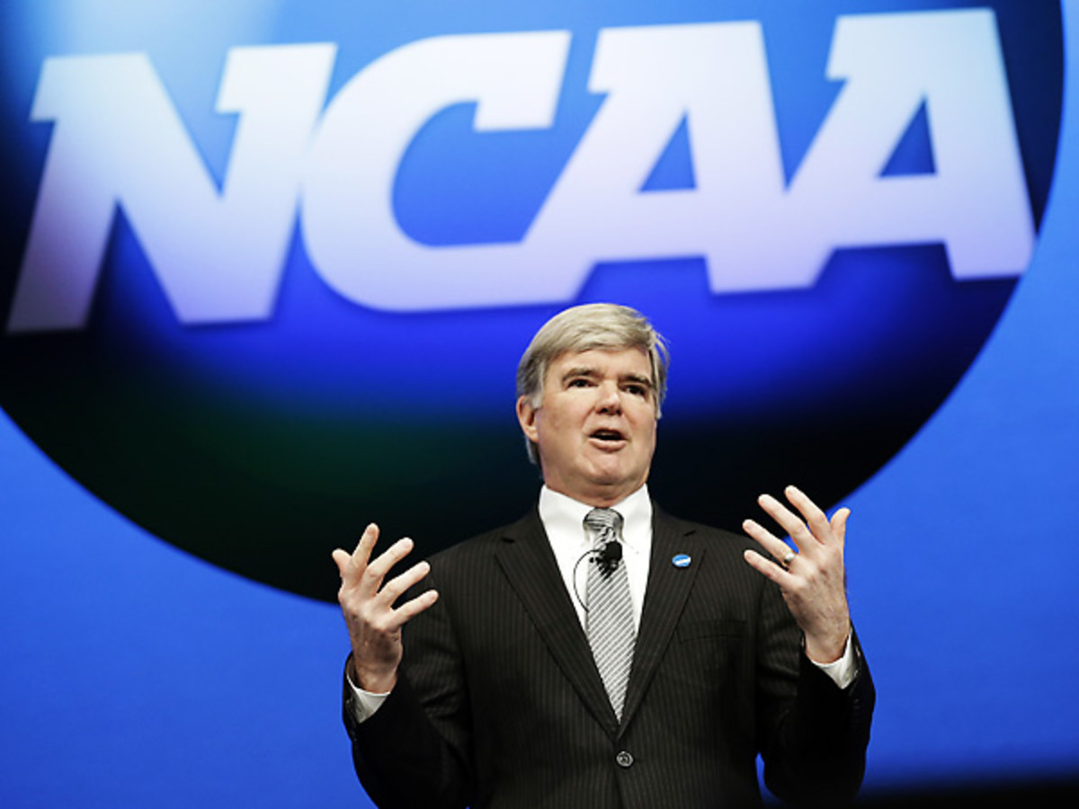 Mark Emmert and the NCAA announced another significant change in the college football structure. (LM Otero/AP)
