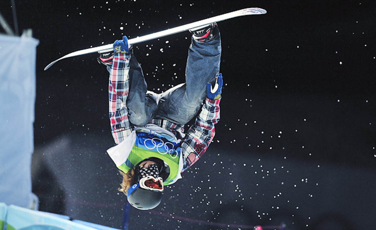 Shaun White won a gold medal in the halfpipe at each of the past two Winter Olympics.
