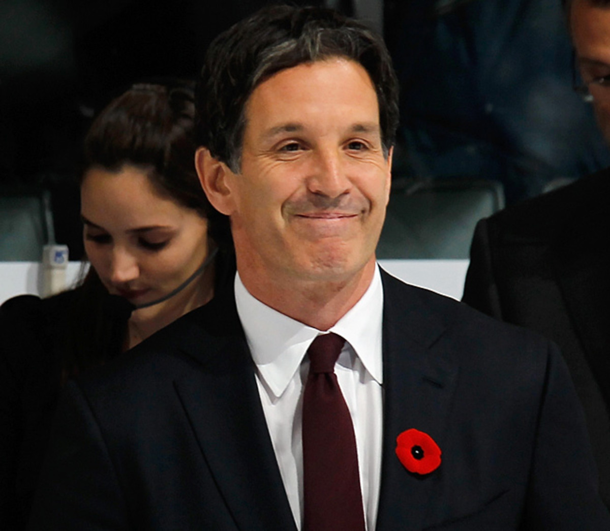 Why is this man smiling? Brendan Shanahan has much to do to turn the woeful Maple Leafs around.