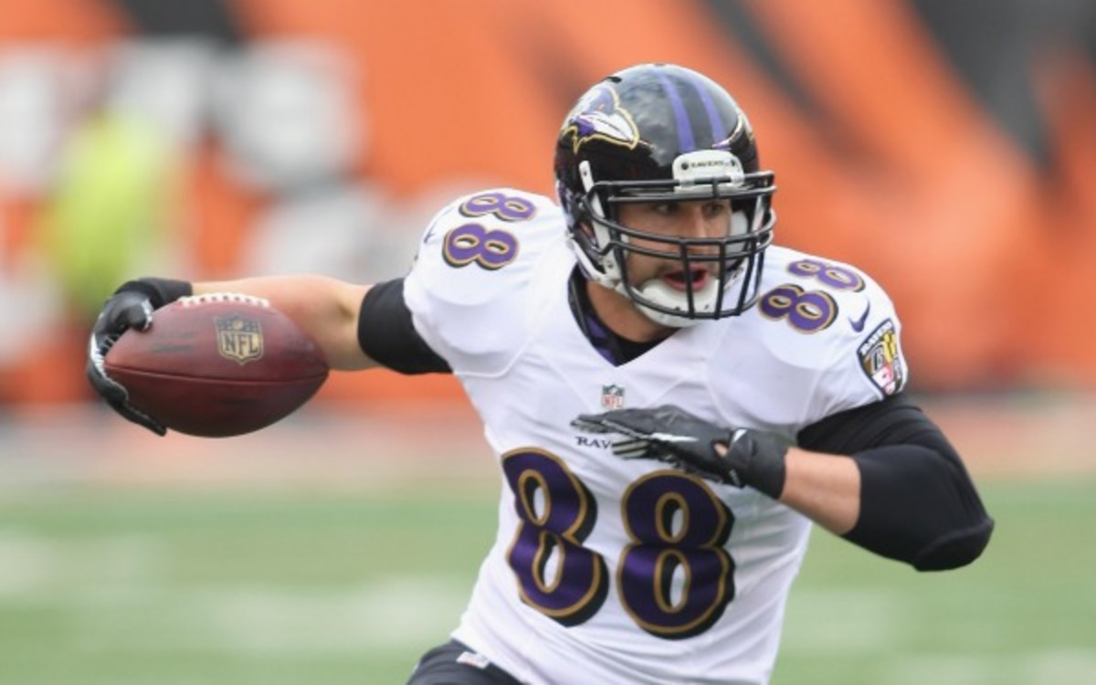 Ravens tight end Dennis Pitta has 122 receptions in four NFL seasons (John Grieshop/Getty Images)