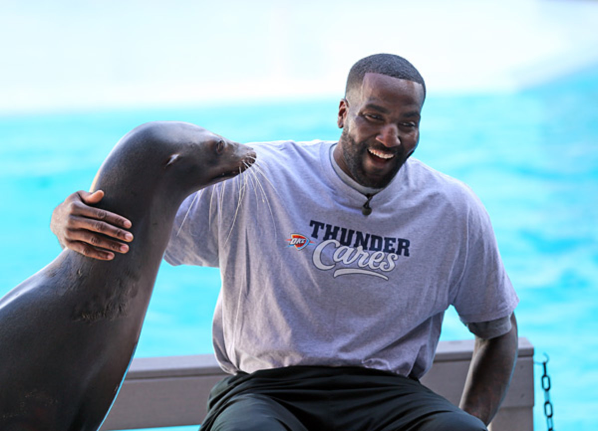 Kendrick Perkins and Seal :: Getty Images