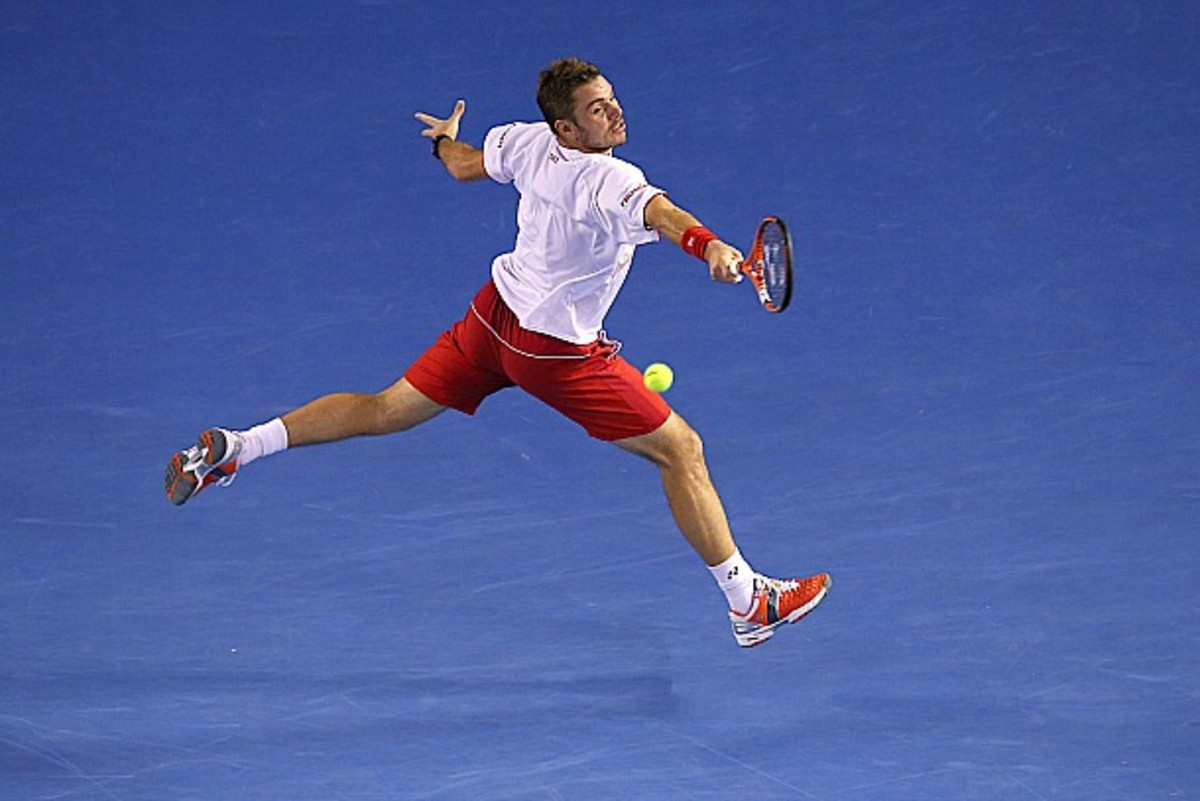 Wawrinka trying to get back in flight. (Mark Kolbe/Getty Images)
