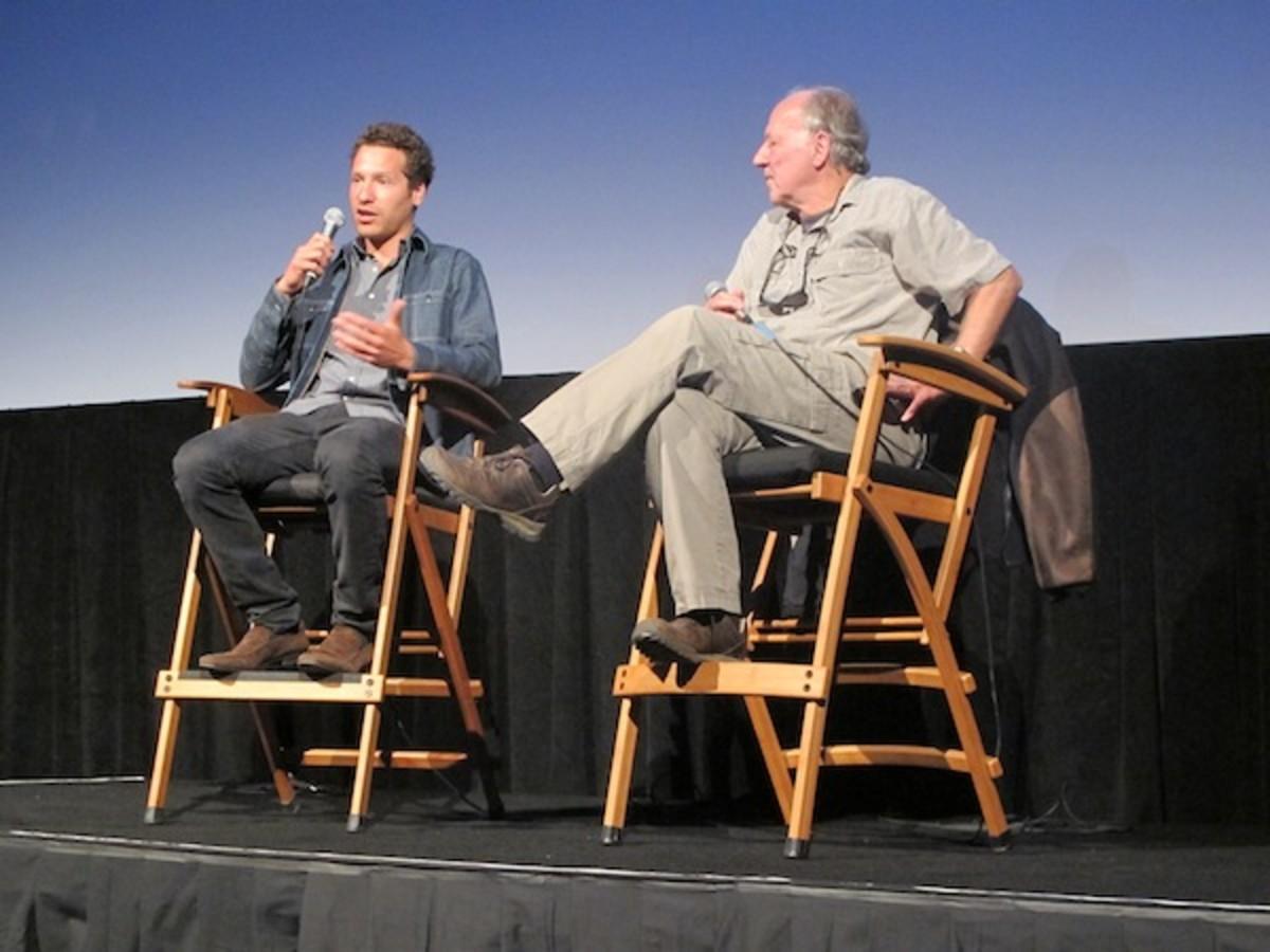 Gabe Polsky and Werner Herzog at the 41st Telluride Film Festival