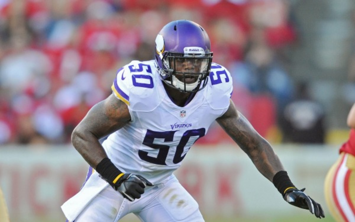 Vikings linebacker Erin Henderson leads the team with 92 total tackles this season. ( (Tom Dahlin/Getty Images