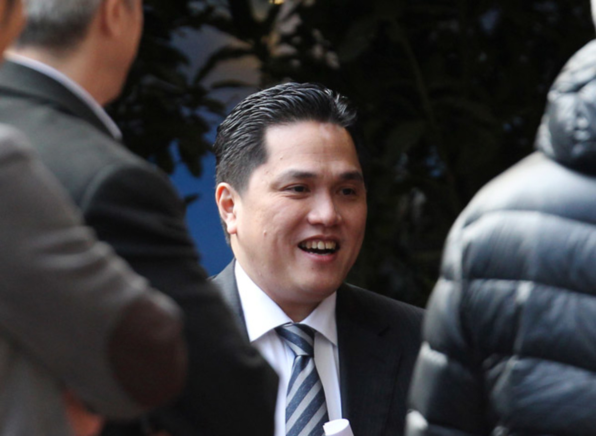 Inter Milan's new owner and president Erick Thohir could make wholesale changes at the club, which is in the midst of a disappointing season.