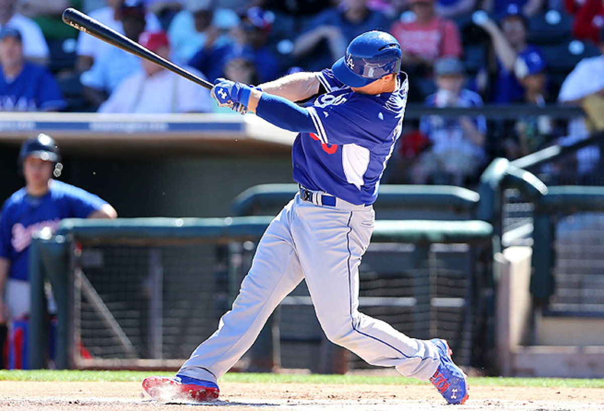 Joc Pederson would likely be promoted on any other team, but the Dodgers' outfield is plenty crowded.