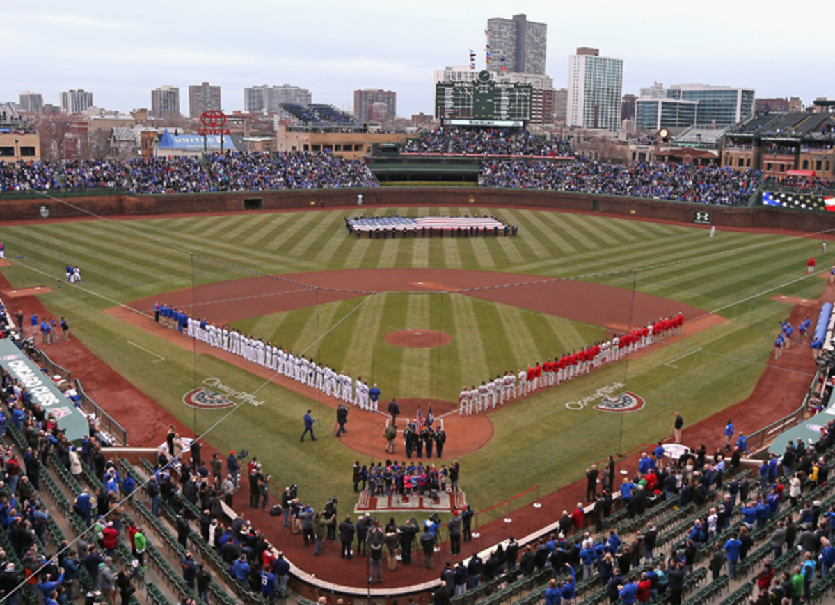 Wrigley Field in Chicago's North Side has been the Cubs' home for the last 100 seasons.