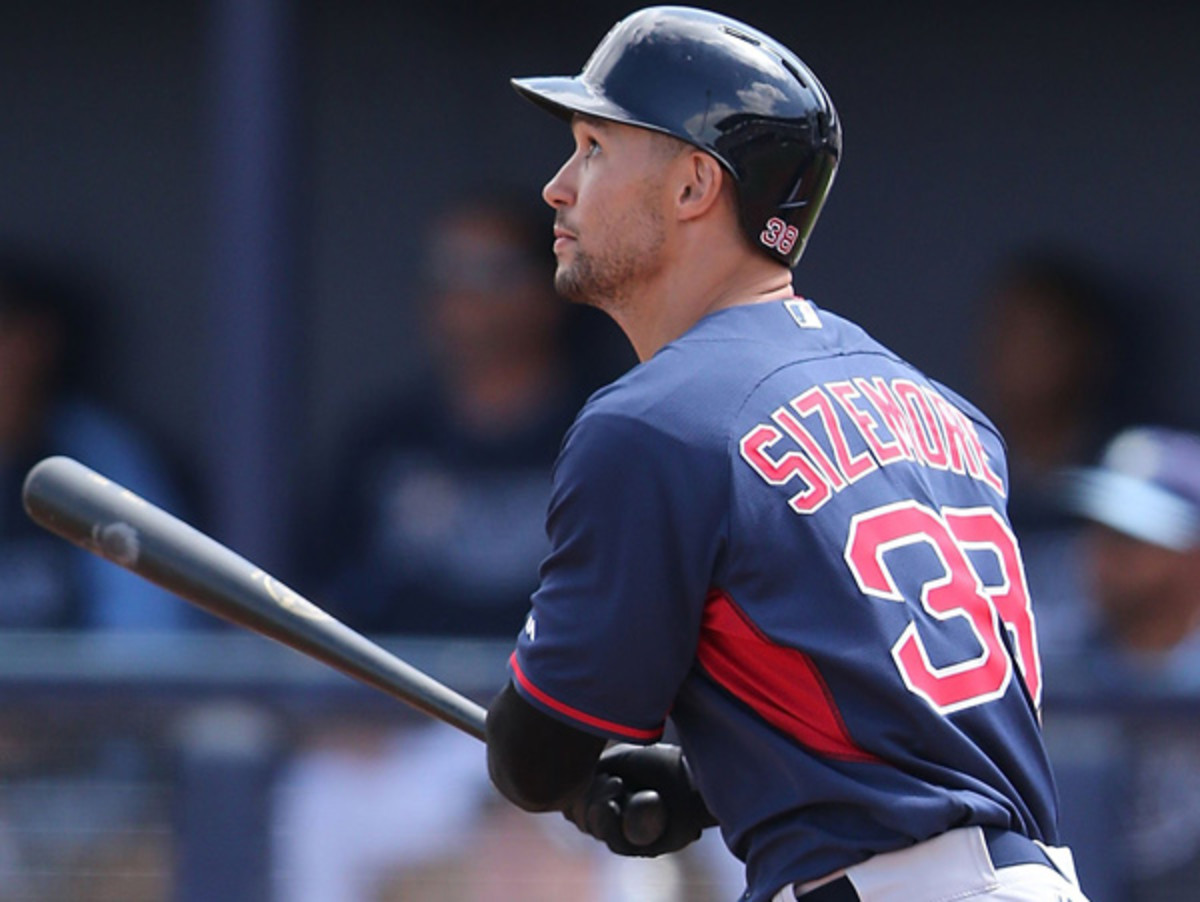 Grady Sizemore's strong spring earned him a starting job on this year's Red Sox. (Leon Halip/Getty Images)