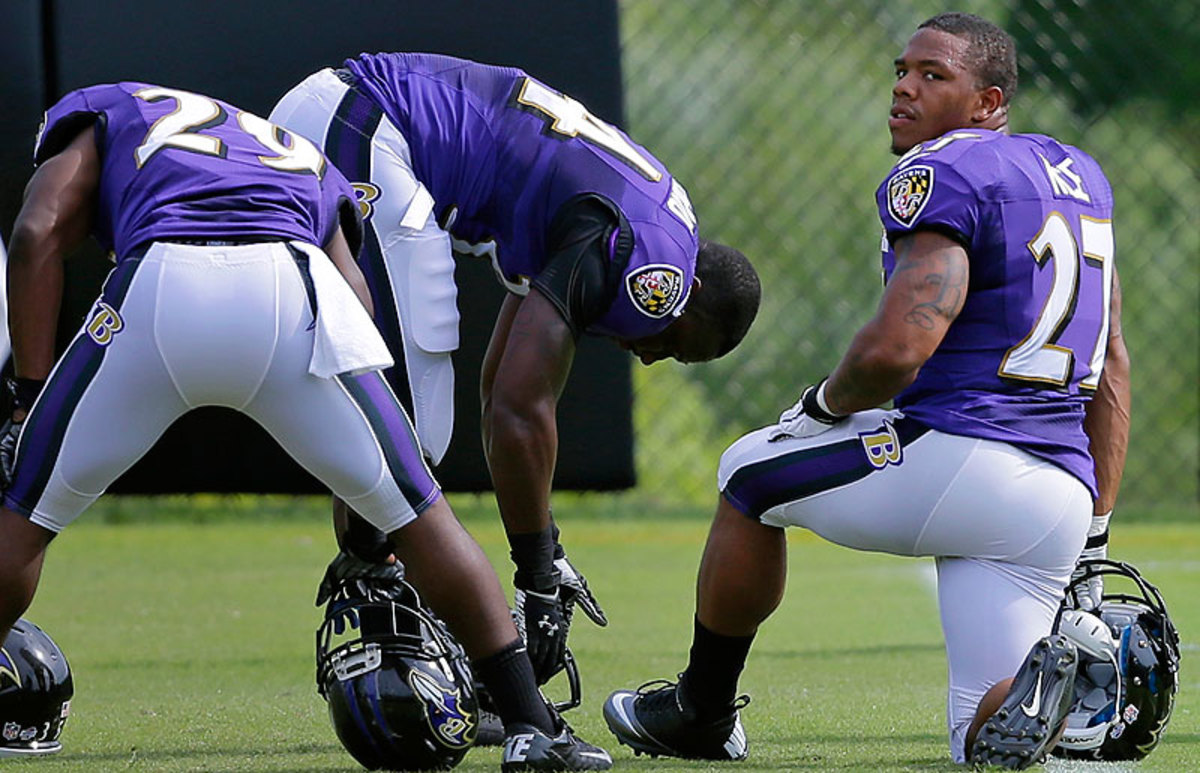 Ray Rice is not appealing his two-game suspension and, after participating in training camp and the preseason, will be eligible to return to the team after Week 2 of the regular season. (Patrick Semansky/AP)