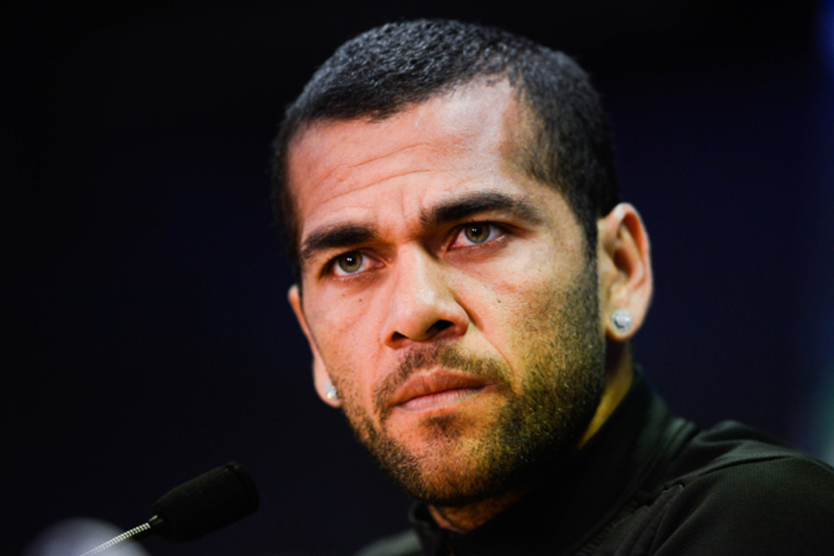Dani Alves was the target of racial abuse in Sunday's match between Barcelona and Villarreal.