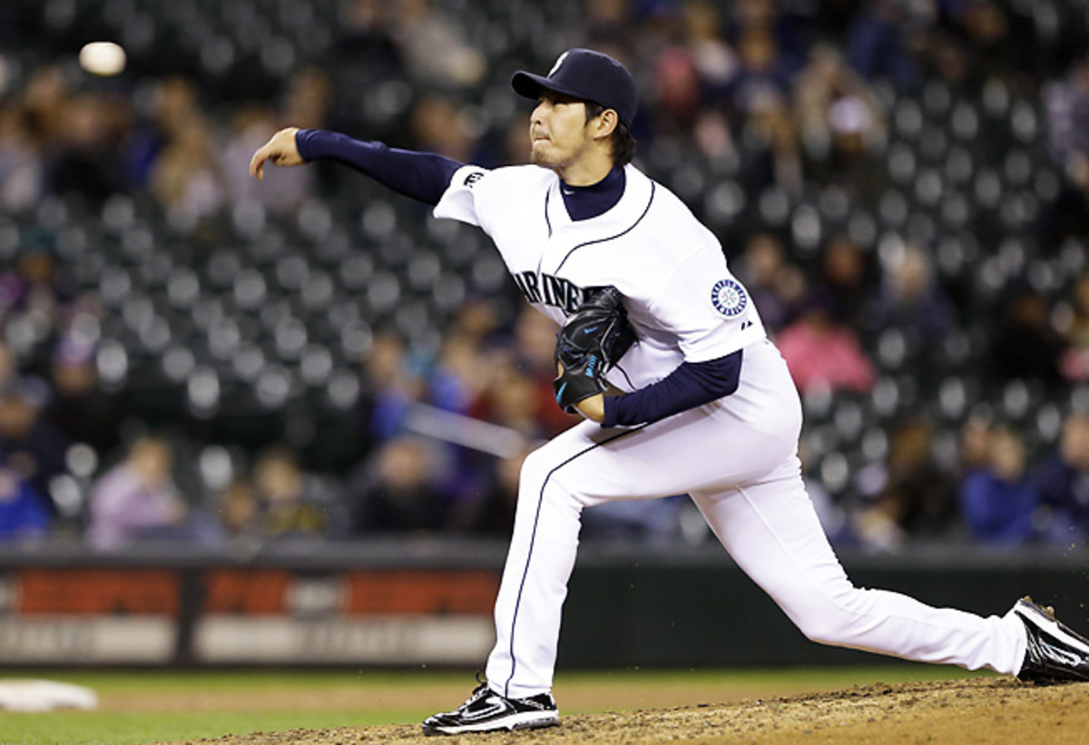 Hisashi Iwakuma was a star for the Mariners in 2013, finishing third in the AL Cy Young voting.
