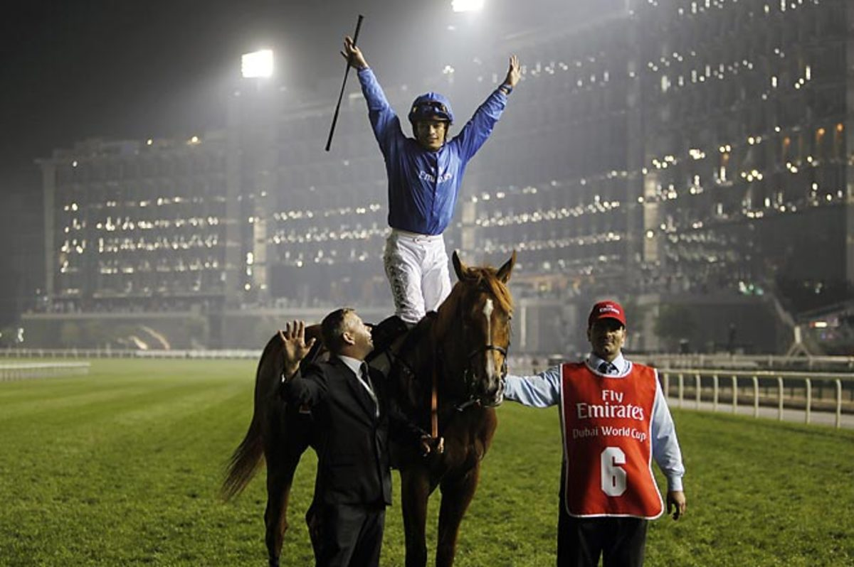 African Story collected a $10 million prize at the Dubai World Cup, the world's richest horse race.