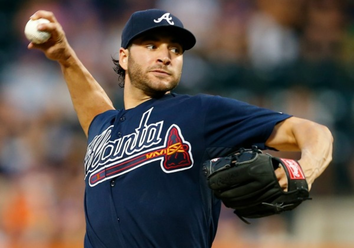 Brandon Beachy is scheduled to visit Dr. Jame Andrews on Monday. (Rich Schultz/Getty Images)