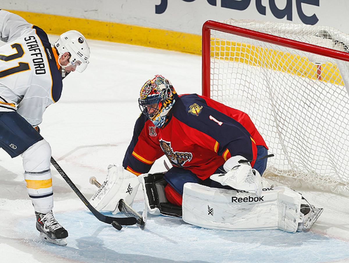It looks like Roberto Luongo is settling in to playing in the Sunshine State again. (Joel Auerbach/Getty Images)