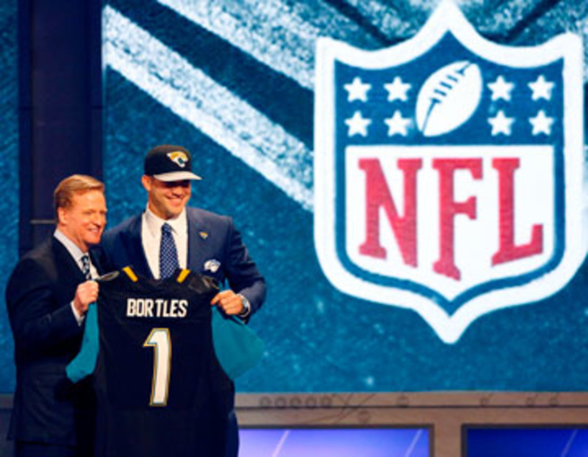 The Jags plan to let No. 3 overall pick Blake Bortles sit and learn during the 2014 season. (Elsa/Getty Images)
