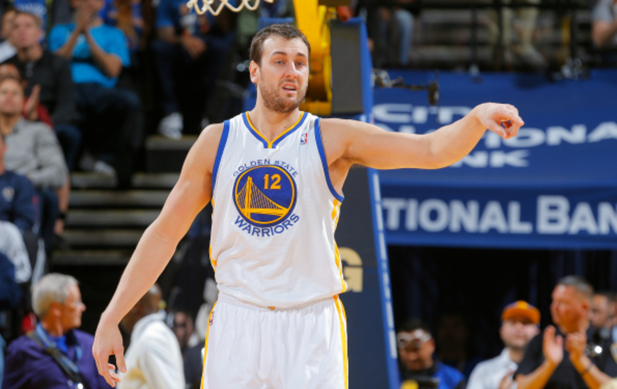 Andrew Bogut has played in all but 9games for the Warriors so far this season. (Rocky Widner/Getty Images)