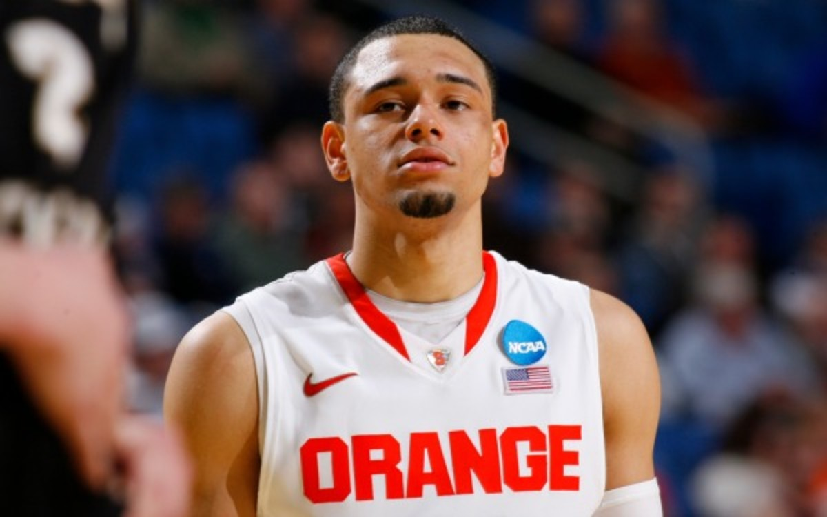 Syracuse guard Tyler Ennis scored 20 or more points five times during his freshman season. (AP Photo)