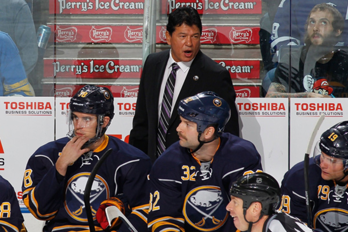 Ted Nolan's second stint in Buffalo will get at least a little bit longer. (Bill Wippert/NHLI via Getty Images)