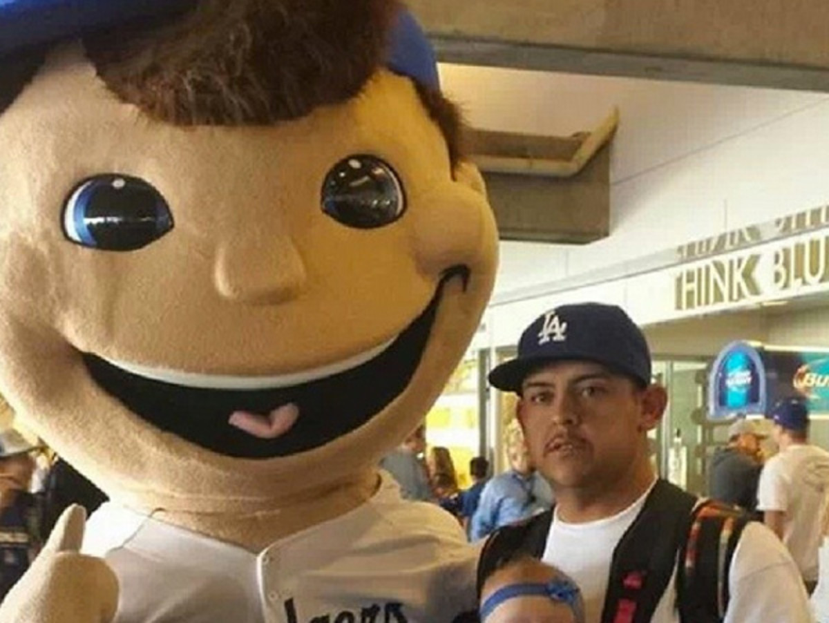The Dodgers' new mascot. No, the one on the left. (via TK on Instagram)