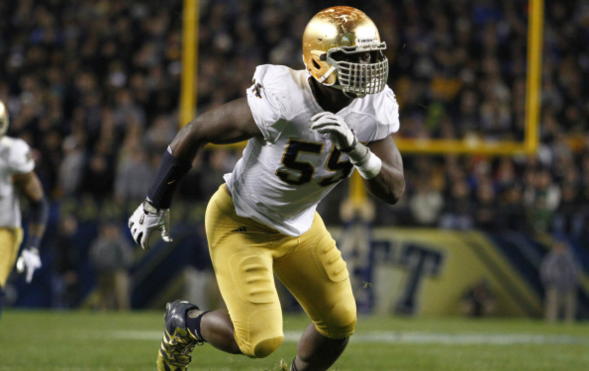 Prince Shembo played all four years for Notre Dame. (Justin K. Aller/Getty Images)