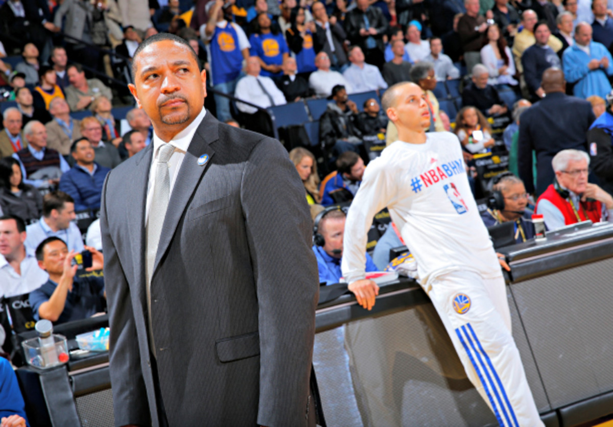 Head coach Mark Jackson is on uncertain footing with the Warriors organization. (Rocky Widner/NBAE via Getty Images)