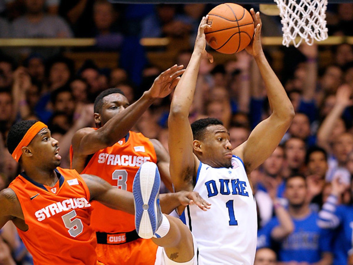 Jabari Parker was tremendous both on the boards and scoring the basketball on Saturday night. (Grant Halverson/Getty Images)