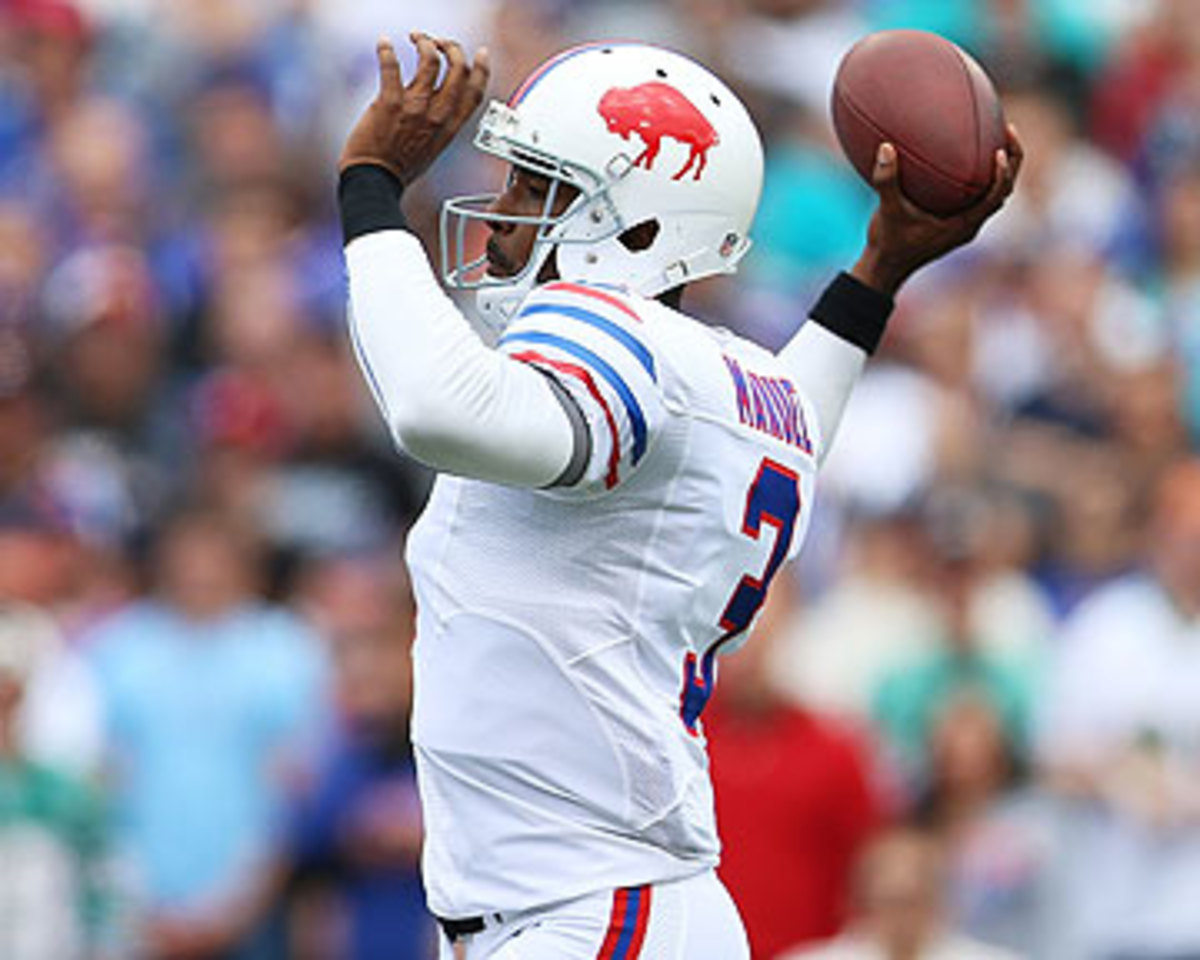 Bills QB E.J. Manuel has a 95.4 passer rating through the first two weeks. (Vaughn Ridley/Getty Images)