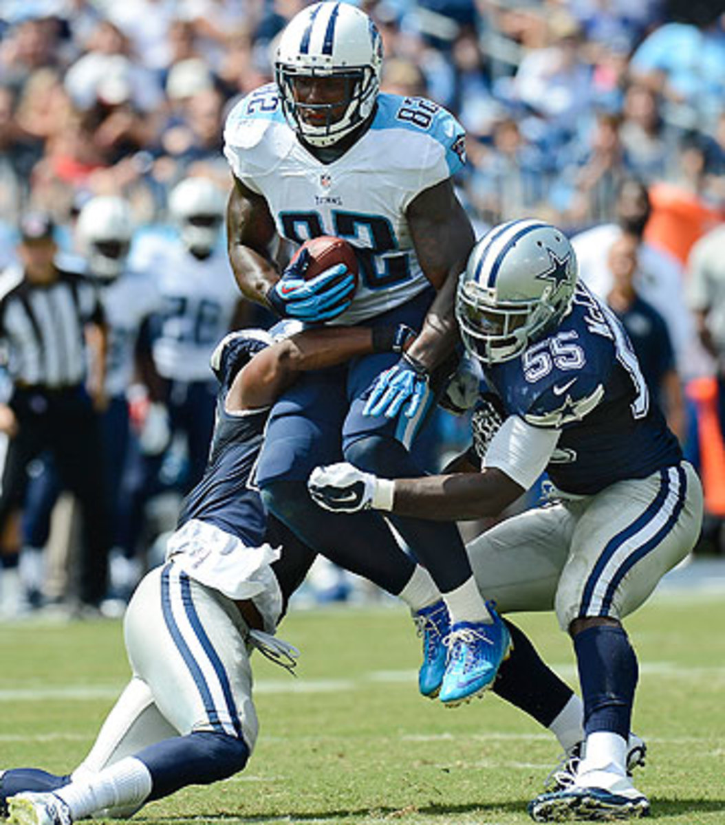 Outside of Delanie Walker's 141 receiving yards, the Cowboys defense had a big day in Tennessee. (Mark Zaleski/AP)