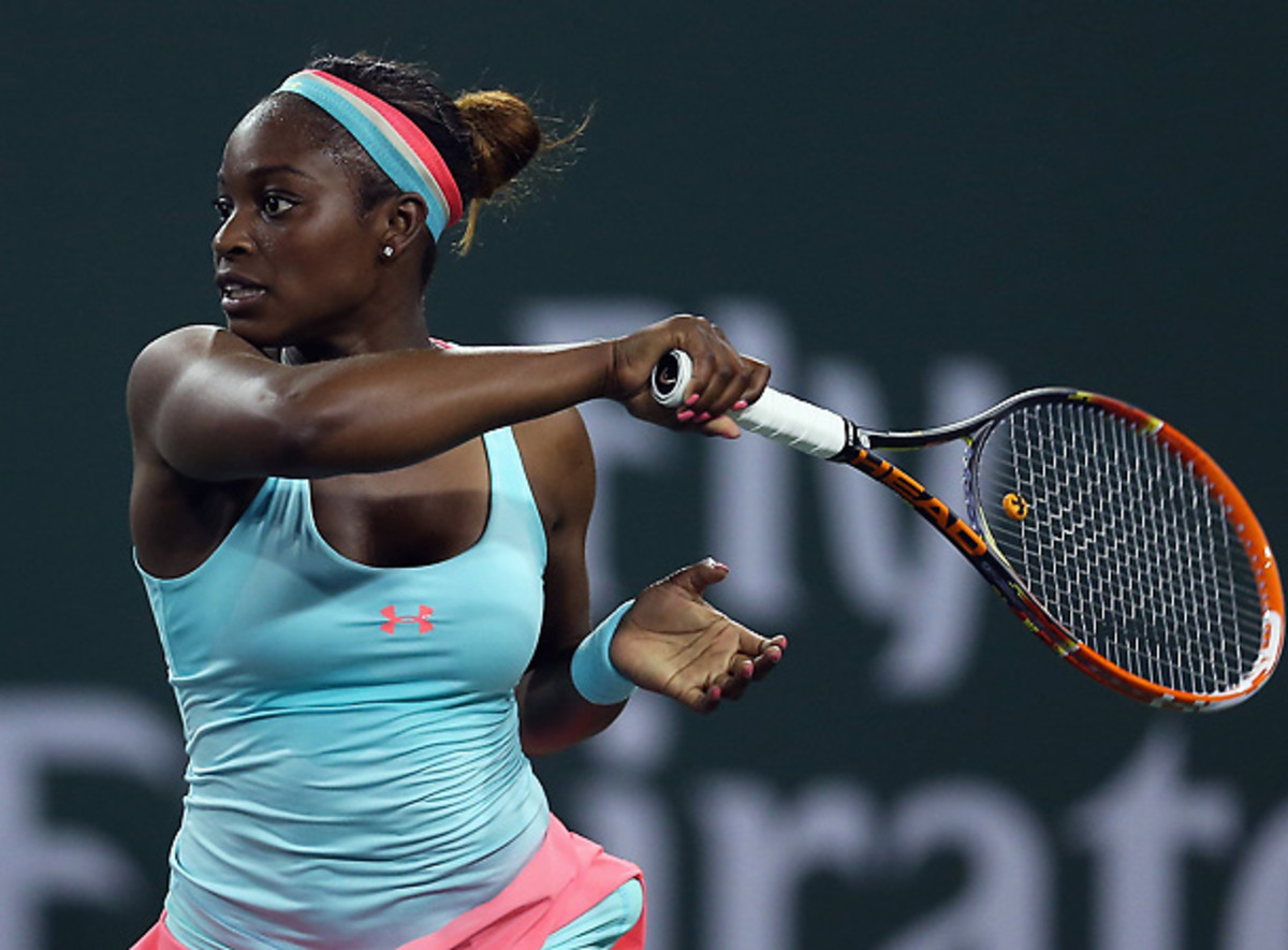 Sloane Stephens compiled a solid match to earn a tough win over Alisa Kleybanova at Indian Wells. (Stephen Dunn/Getty Images)