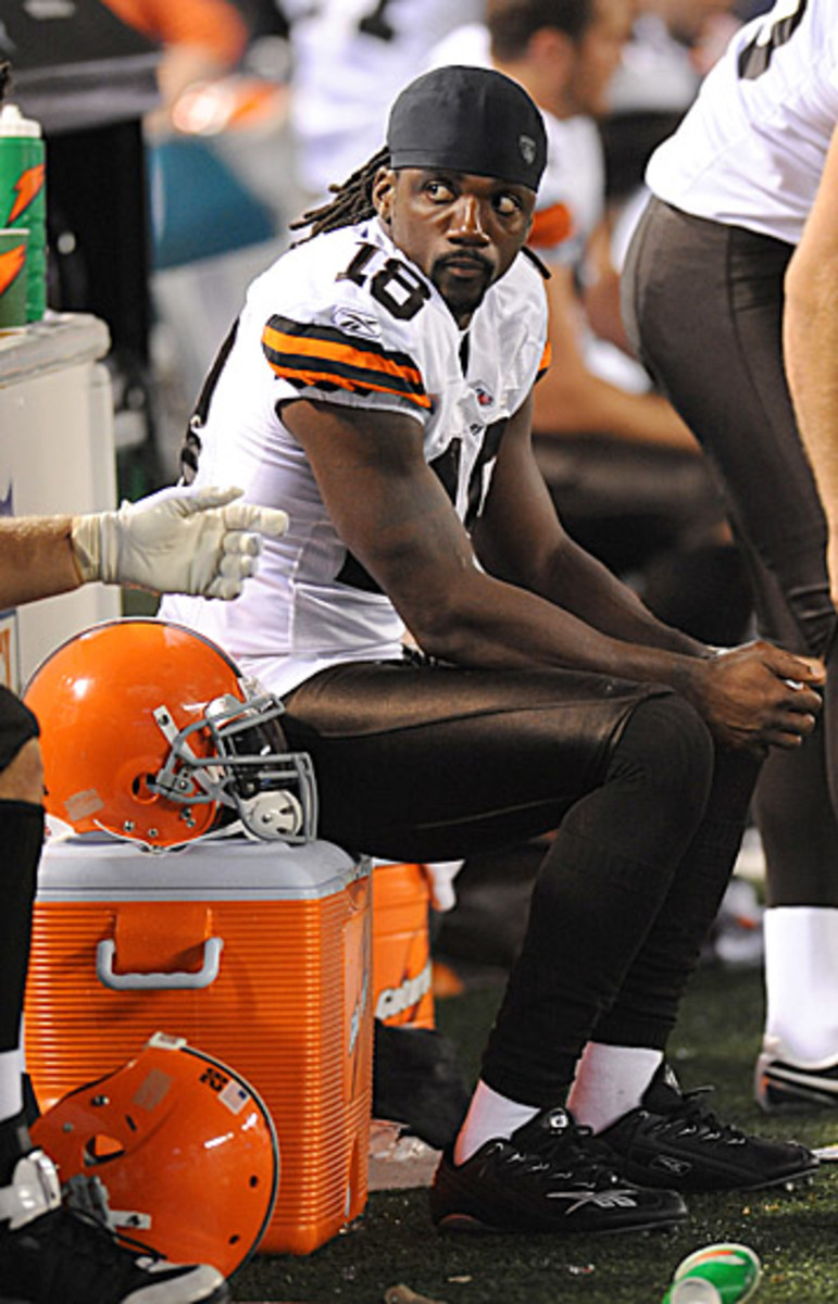 Stallworth played just one season in Cleveland. After serving a one-year suspension in 2009, he never found permanent footing in the league again. (Michael J. LeBrecht II/1Deuce3 Photography)
