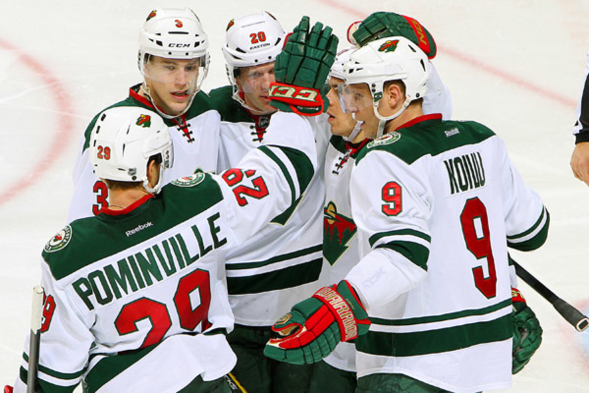 The Wild are on the verge of a playoff berth after a 1-0 win over the Jets. (Jonathan Kozub/Getty Images)