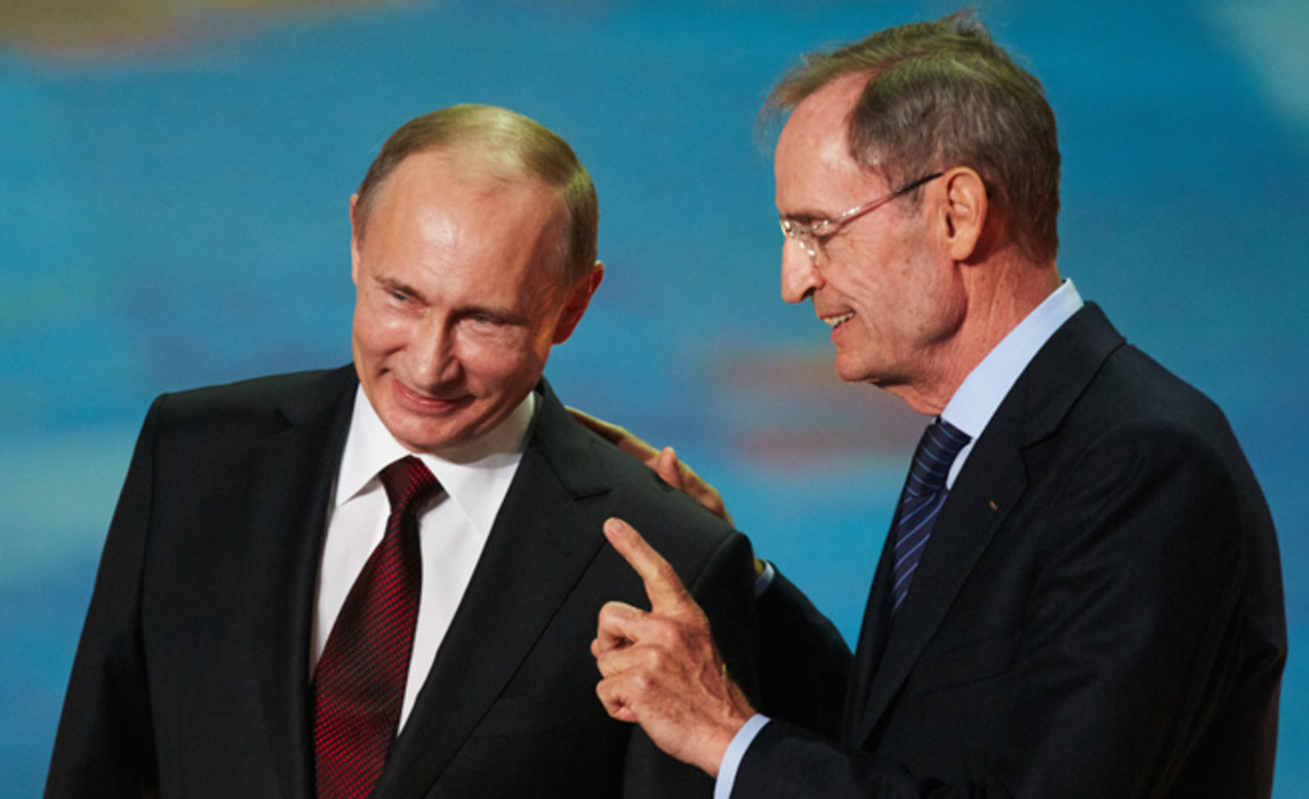 Jean-Claude Killy worked closely with Vladamir Putin on the Sochi Olympics, calling the Russian president 'a good man.'