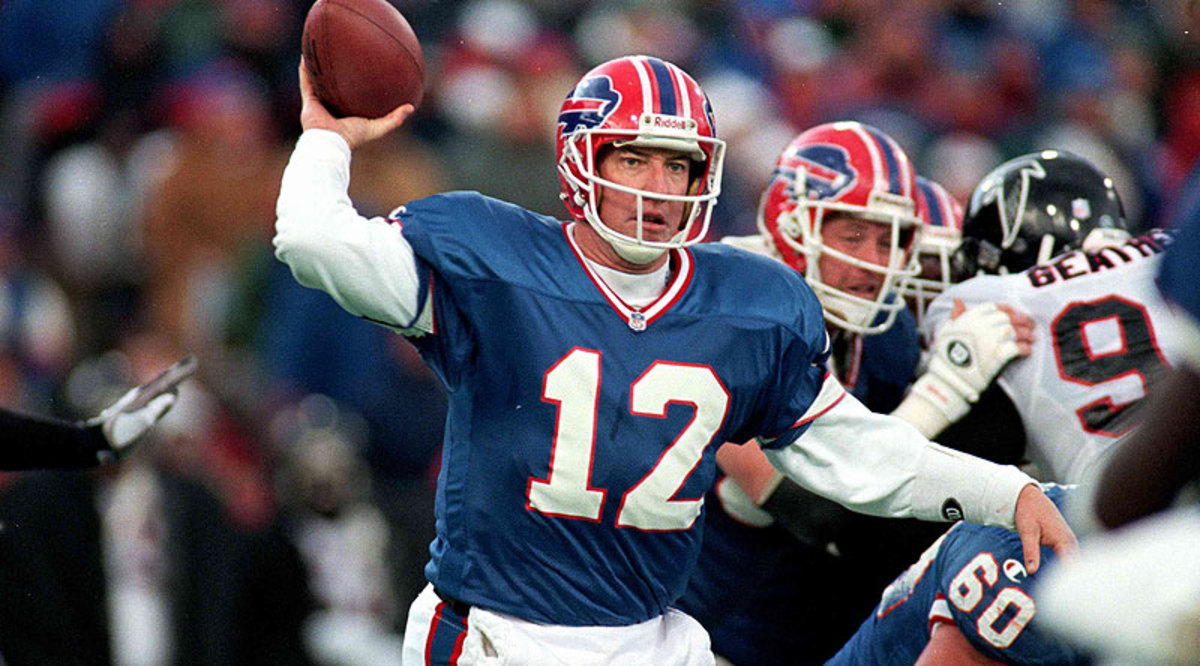 Jim Kelly is the only quarterback in NFL history to lead his team to the Super Bowl in four straight seasons. (Rick Stewart/Getty Images)