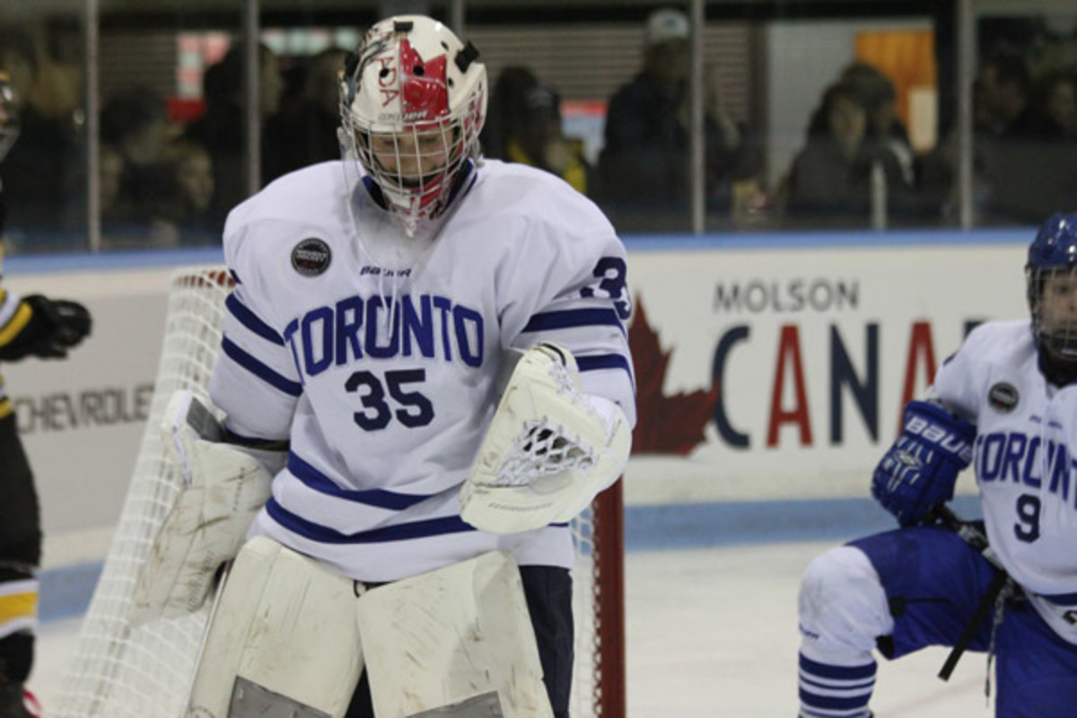 Christina Kessler was a stalwart in net, helping Toronto to its first-ever Clarkson Cup. (Meg Linehan/MegLinehan.com)