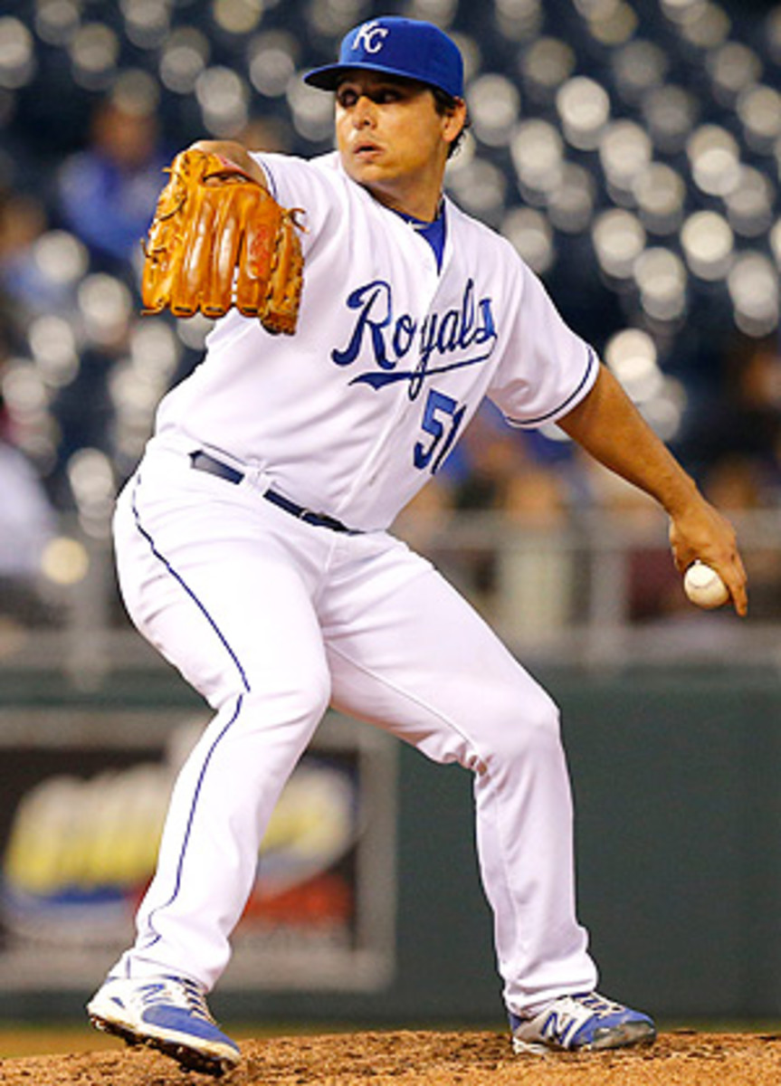 Jason Vargas will have the opportunity to take advantage of the bumbling Twins on Sunday.