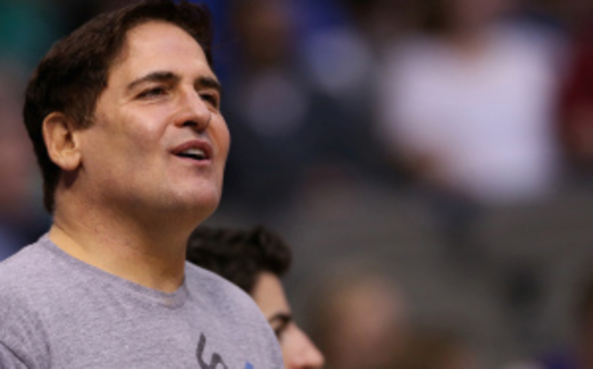 Mavericks owner Mark Cuban has been fined nearly $2 million since taking over the Mavs in 2000. (Ronald Martinez/Getty Images)