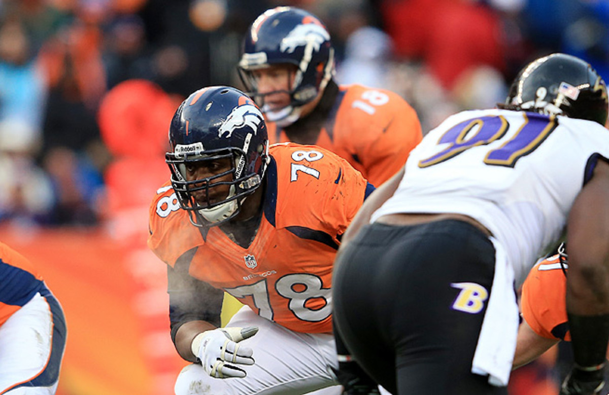 Ryan Clady suffered a foot injury early in the year and missed Denver's run to the Super Bowl.