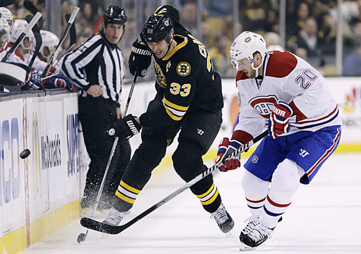 Boston's Norris Trophy nominee Zdeno Chara leads a top defense against a possibly rusty foe.