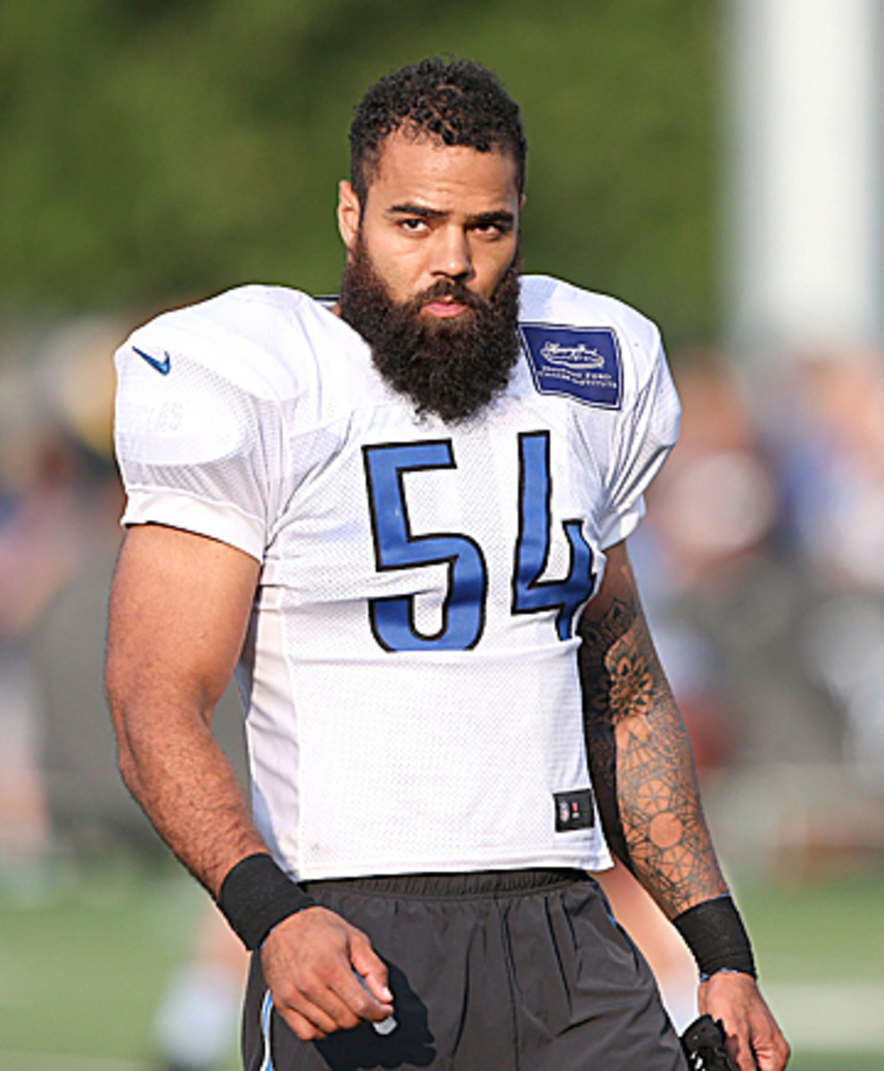 With Stephen Tulloch out, Levy and his beard could be sliding to the middle linebacker spot in Week 4. (Leon Halip/Getty Images)