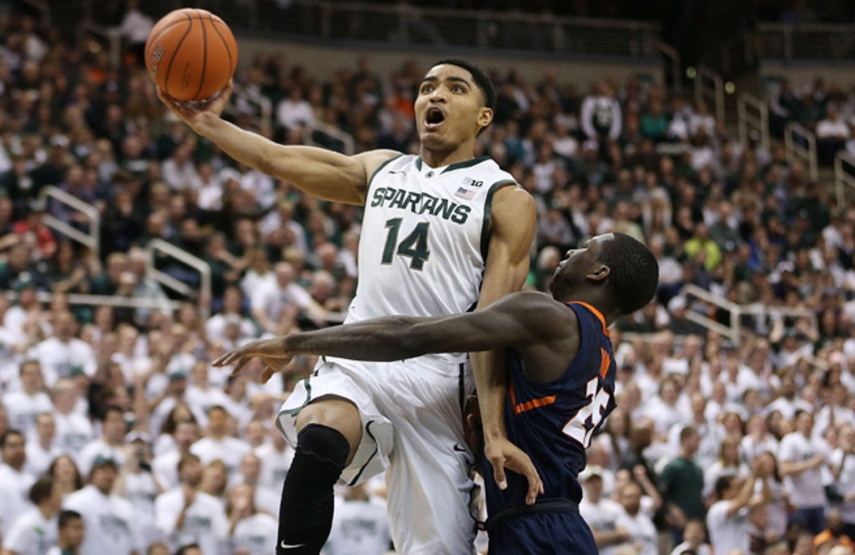 Gary Harris averaged 16.7 points and 4.0 boards as a sophomore, but shot just 35.3 percent from deep.