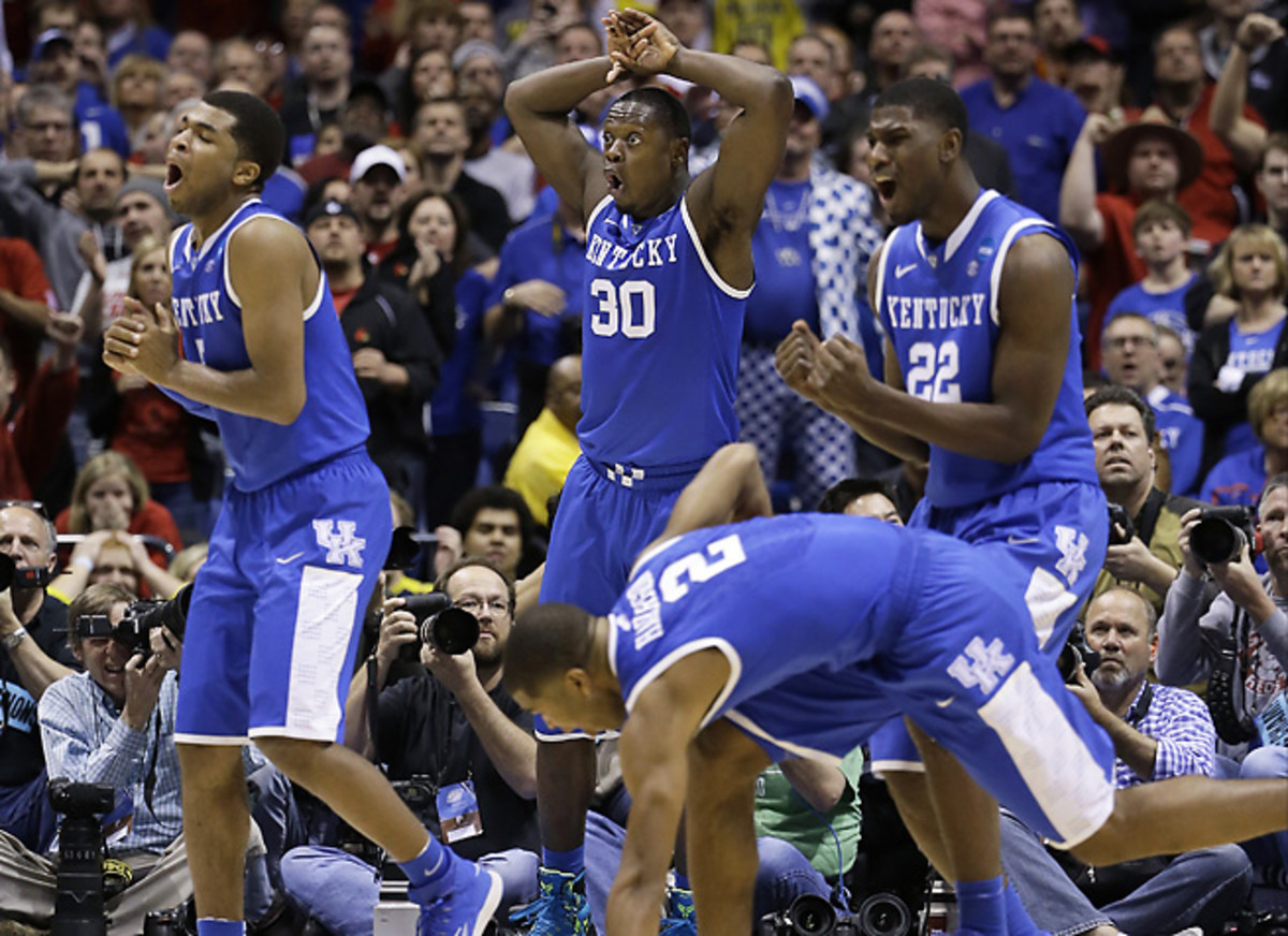 Andrew Harrison (left), Julius Randle (30) and Aaron Harrison (2) are three budding stars from Texas.