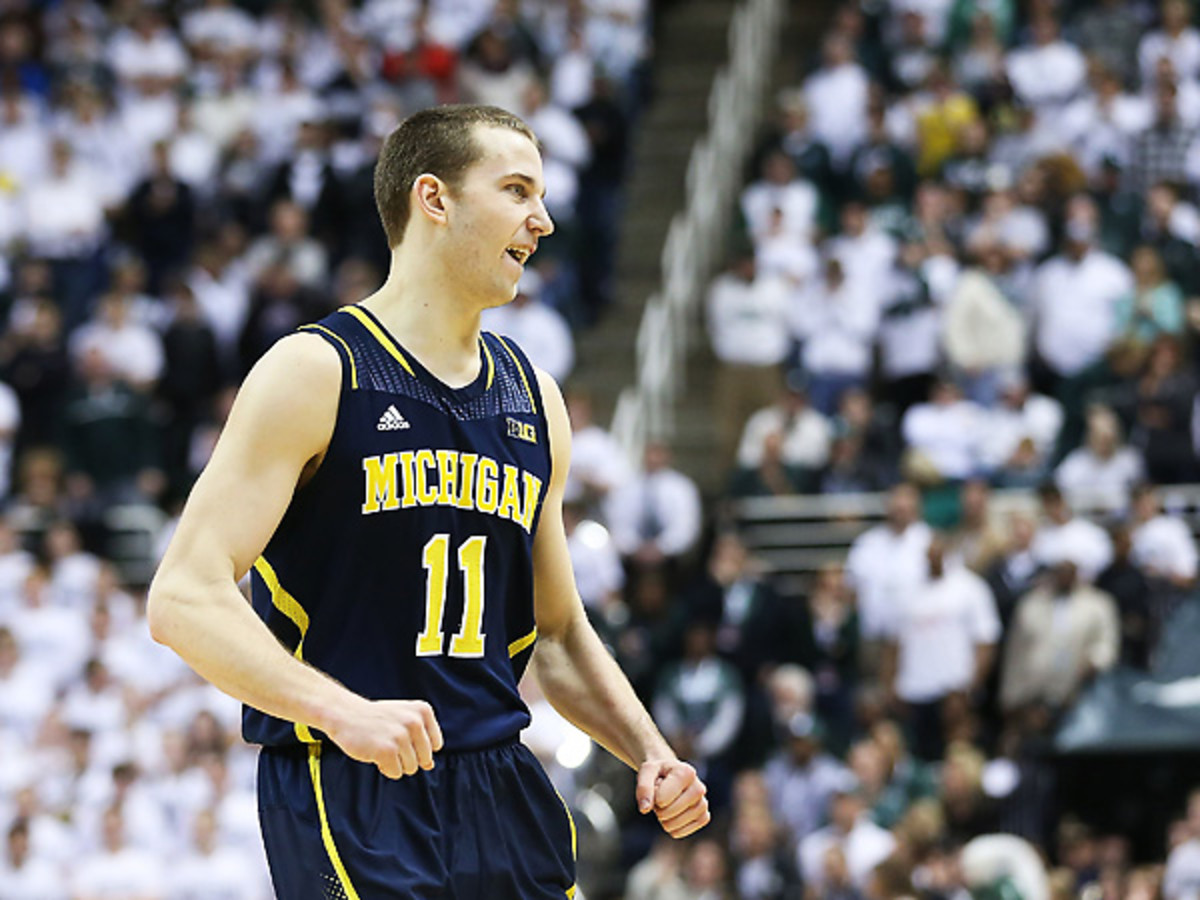 Nik Stauskas continued his stellar play with a strong game against Michigan State. (Leon Halip/Getty Images)