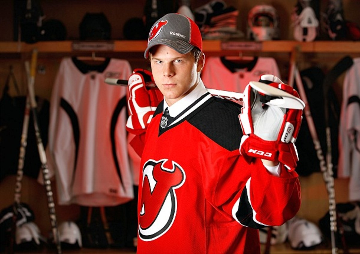 Ben Johnson of the New Jersey Devils